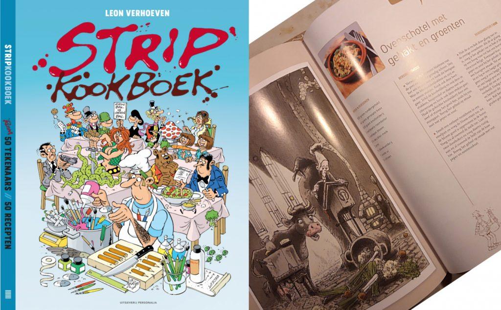 StripKookboek, Leon Verhoeven, recepten en strips