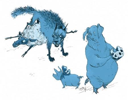 WvdS Comics Commercial Editorial illustration Wilbert van der Steen Cartoon Comment